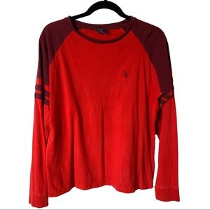 Red Burgundy Maroon U.S. Polo Assn.Long Sleeve